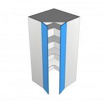 Raw MDF - Pantry Cabinet - Corner - 2 Door (Walk in)
