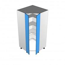 Raw MDF - Pantry Cabinet - Corner - 2 Door (Step in)