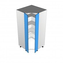 Bonlex Vinyl Wrapped - Pantry Cabinet - Corner - 2 Door (Step in)