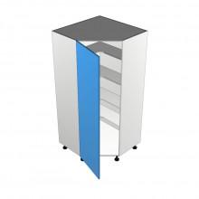 Bonlex Vinyl Wrapped - Pantry Cabinet - Corner - 1 Door Hinged Left (Step in)