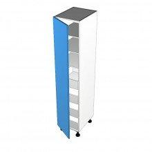 Raw MDF - Pantry Cabinet - 1 Door - Hinged Left - Suit Internal Drawers