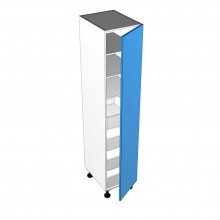 Raw MDF - Pantry Cabinet - 1 Door - Hinged Right - Suit Internal Drawers