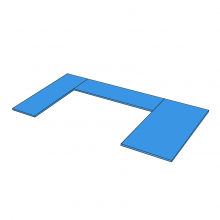 Laminex - 'U' Shape - Double Rolled Island On The Right