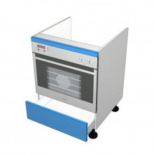 Polytec 16mm ABS - Under Bench Oven Cabinet - 1 Drawer (Blum Legrabox)