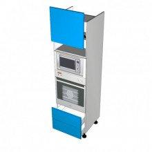 Stylelite Acrylic - Walloven Cabinet - Microwave Recess - 1 Door Aventos HL Lift Up - 2 Drawer (Blum Legrabox)