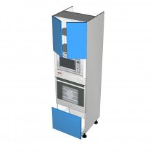 Stylelite Acrylic - Walloven Cabinet - Microwave Recess -  2 Doors - 1 Drawer (Blum)