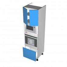 Raw MDF - Walloven Cabinet - Microwave Recess - 2 Doors - 1 Drawer (Blum Legrabox)
