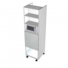 Carcass Only - Walloven Cabinet - Microwave Recess - 1 Drawer (Finista)