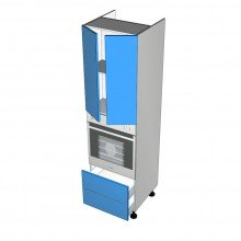 Raw MDF - Walloven Cabinet - 2 Doors - 2 Drawers (Blum Legrabox)