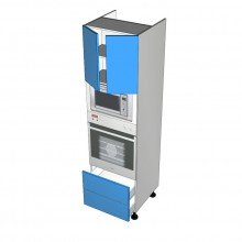 Polytec 16mm ABS - Walloven Cabinet - Microwave Recess - 2 Doors - 2 Drawers (Blum Legrabox)