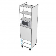 Carcass Only - Walloven Cabinet - Microwave Recess - 2 Drawers (Blum)