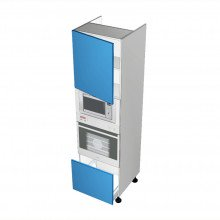Stylelite Acrylic - Walloven Cabinet - Microwave Recess - 1 Door - Hinged Left - 1 Drawer (Finista)