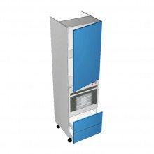 Raw MDF - Walloven Cabinet - 1 Door - Hinged Right - 2 Drawers (Blum Legrabox)