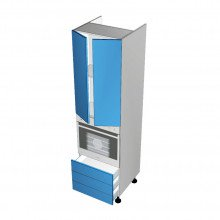 Raw MDF - Walloven Cabinet - 2 Doors - 3 Drawers (Blum)