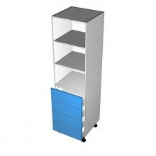 Laminex 16mm ABS - Wardrobe Cabinet - 4 Equal Drawers