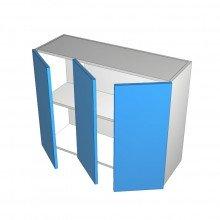 Raw MDF - Overhead Cabinet - 3 Doors (2 Left 1 Right)