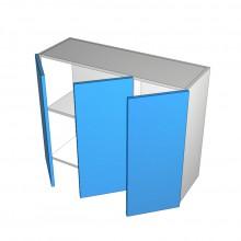Raw MDF - Overhead Cabinet - 3 Doors (1 Left 2 Right)